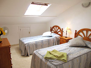 Upstairs bedroom in 3 bedroom Cabopino apartment